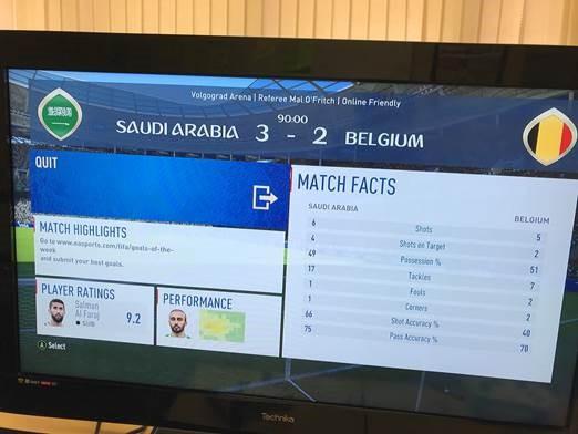FIFA match stats
